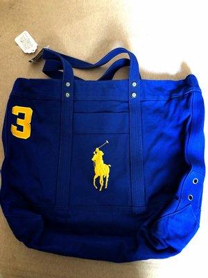 Ralph Lauren POLO 仿舊 帆布大馬包 寶藍色款 特價:3699元 僅有1個 經典寶藍色款