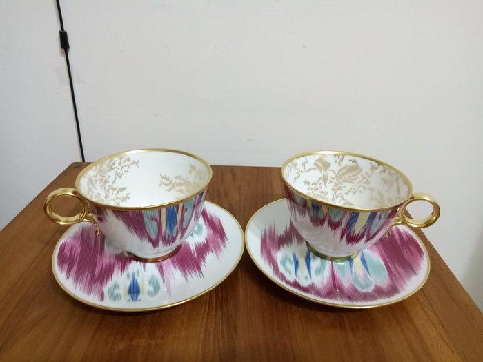 天使熊雜貨小舖~法國Hermes愛馬仕VOYAGE en lkat依卡系列~餐瓷 茶杯盤組 法國製 全新現貨2款