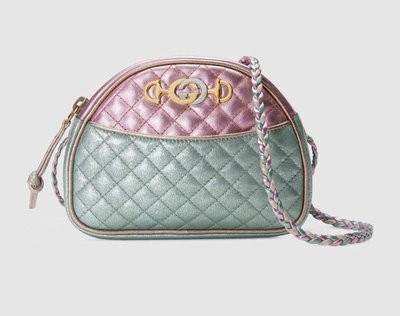 **Ohya精品代購** 2018 全新代購 Gucci 古馳Laminated leather mini bag 534951