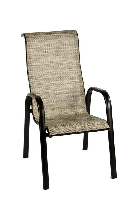 [兄弟牌戶外休閒傢俱]鋁合金高背紗網休閒椅 4 張組優惠~咖啡+白雙色編織包覆頭靠舒適~歐式風情居家庭園休閒!!~