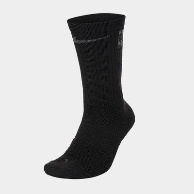 【 鋒仔球鞋 】NIKE NBA BASKETBALL ELITE CREW 黑灰小腿襪 籃球襪 SK0091-010