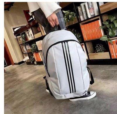 adidas愛迪達 三條雙肩包 學生情侶書包 休閒男女旅行包 後背包