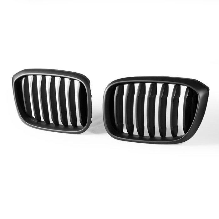 BMW 寶馬 X3 G01 X4 G02 適用 ABS水箱罩 鼻頭水箱護罩中網水柵 - 消光黑 GR-49629