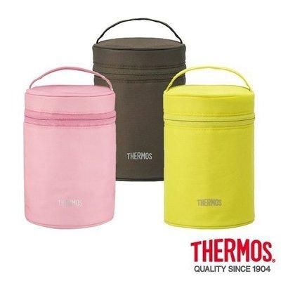 THERMOS膳魔師食物燜燒罐提袋REC-001咖啡色/黃綠色/粉紅色三色任選 超取 面交