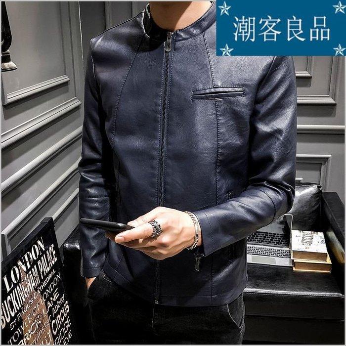 [潮客良品]~~~男士秋季 皮夾克 外套 青年新款 機車皮衣 韓版修身 新款潮流男裝 cklp5251