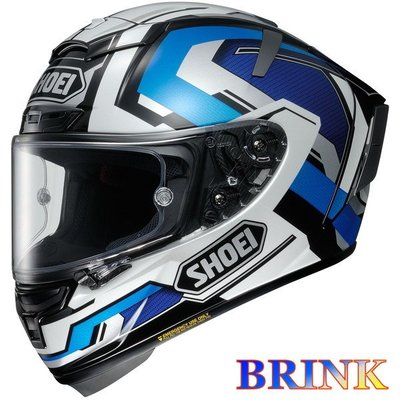 《鼎鴻》SHOEI全罩式頂級選手彩繪安全帽X-14 BRINK TC-2 藍