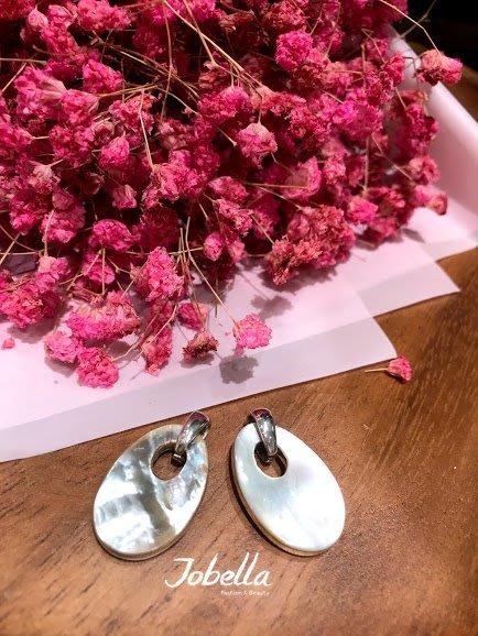 ✽JoBella 日本空運 日本代購 日貨✽ 925銀 橢圓珠母貝吊墜 現貨