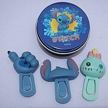 二手 迪士尼 史迪仔 萬字夾 鐵盒 Disney stitch