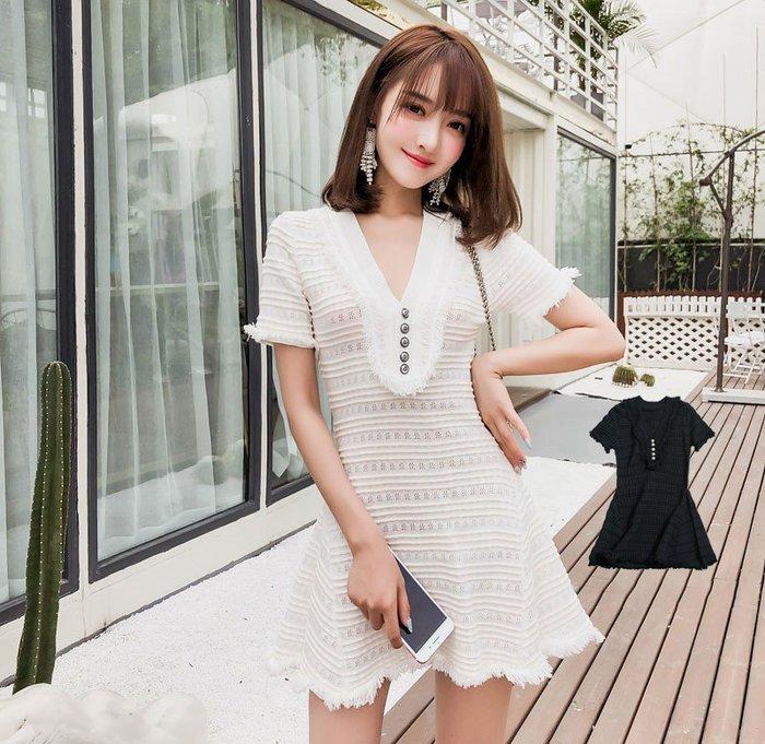❤Shinena 千奈公主❤韓國洋裝  超仙der  顯瘦V領氣質冰絲針織連身裙