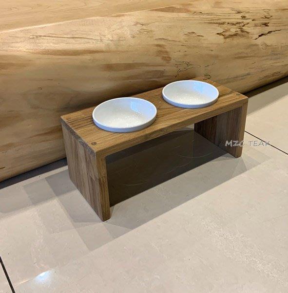 【美日晟柚木】貓碗架 柚木貓盆 客製化 狗碗架 瓷器 寵物餐桌(附碗)