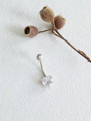 心形鑽 肚臍環 925純銀