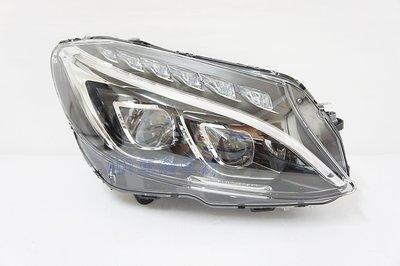 ~~ ADT.車材.車材~~賓士 W205 C180 C200 C300 升級高階版 全LED雙魚眼黑底大燈組