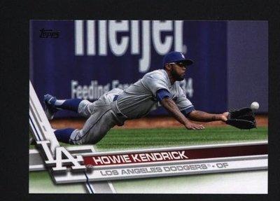 2017 Topps Series 1 #107 Howie Kendrick  洛杉磯道奇隊