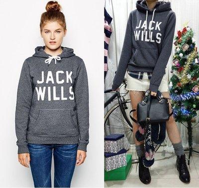MISHIANA 英國休閒品牌 JACK WILLS 女生款刷毛連帽帽T( 當季新款上市.特價出售. )