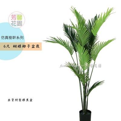 【☆芳馨花園☆】人造樹-6尺蝴蝶椰子盆栽【G06293】綠化植生牆櫥窗佈置實品屋造景會場佈置花藝設計等