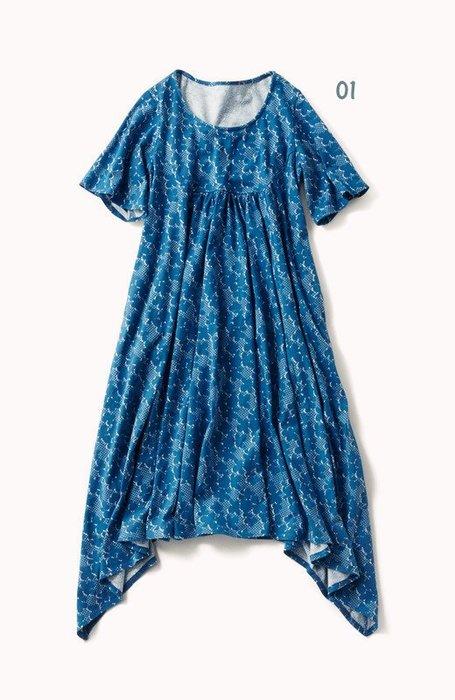 Lis khros 夏裝 どこか懐かしい着心地 北歐風格懷舊花卉連身裙 (現貨款特價)