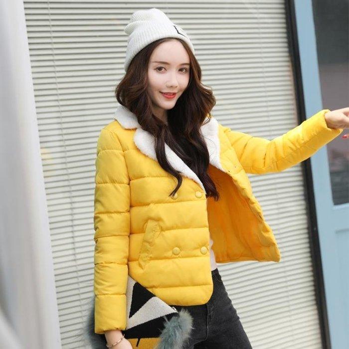2018新款冬天棉衣女短款韓版學生小棉襖羊羔毛外套冬季厚羽絨棉服