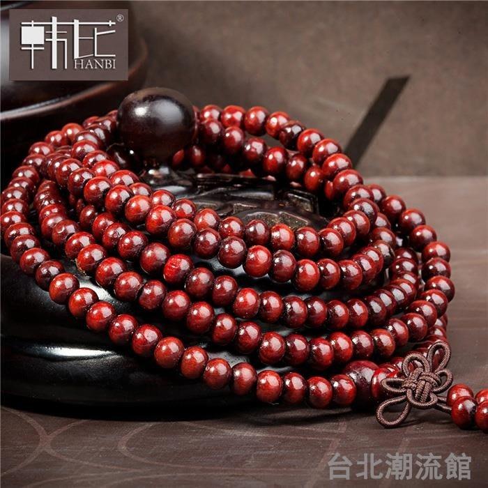 手鍊男士佛珠手串女手飾珠子情侶108首飾男生項鍊手珠民族風多圈