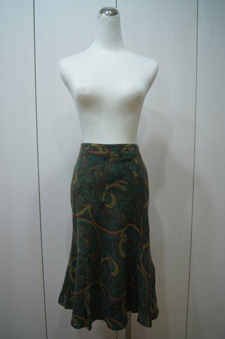 ETRO  綠色圖紋裙        特價  4500