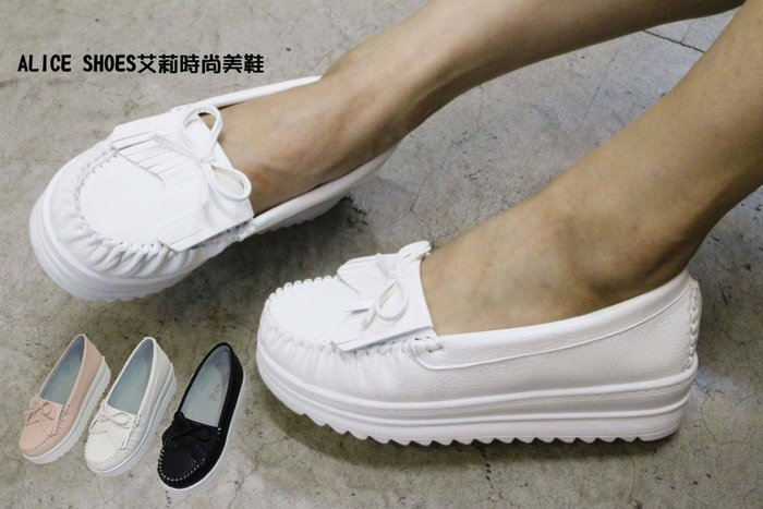 ALICE SHOES艾莉易購網 請把握!!搶鮮擁有厚底娃娃鞋@906@褔樂鞋莫卡辛鞋MIT台灣製造