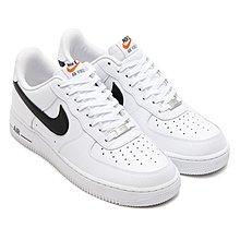 Nike Air Force 1 Low 全白 空軍 AF1 荔枝皮 皮革 白底 黑勾 488298-158男滑板鞋