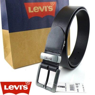 【Levis專櫃正品】◎全新Levis正品黑色可裁剪快拆單層百搭皮帶 ◎