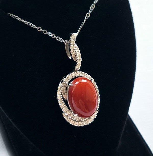☆采鑫天然寶石☆ **風采**~頂級天然AKA(阿卡)赤血紅珊瑚K金鑽墜~珍藏