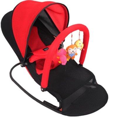 安撫躺椅搖椅哄娃哄睡哄寶神器嬰兒可躺可坐多功能可折疊搖搖椅躺椅安撫椅搖籃   全館免運