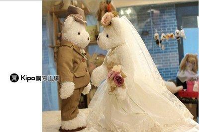 KIPO-泰迪婚紗熊 高個子 白紗  捧花 泰迪熊 婚紗熊 NCJ006092A