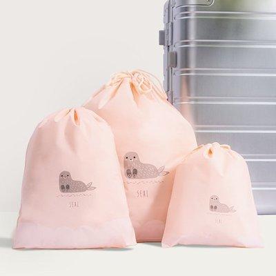 現貨 小 分類袋 洗漱 防塵 束口袋 密封袋 抽繩袋 整理袋 旅行 鞋袋 行李箱❃彩虹小舖❃【A007】卡通抽繩收納袋