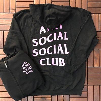 ☆LimeLight☆ Anti Social Social Club MIND GAMES ZIP UP 拉鍊外套 黑