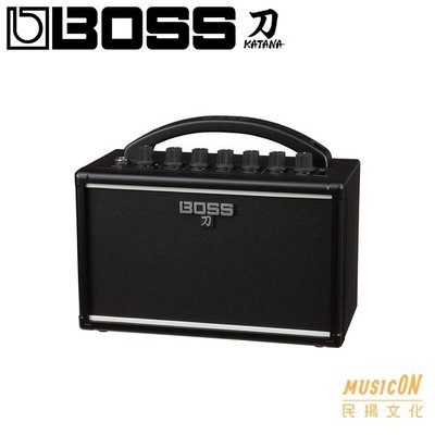【民揚樂器】BOSS KATANA Mini 迷你音箱 可裝電池 攜帶式音箱 家用練習推薦