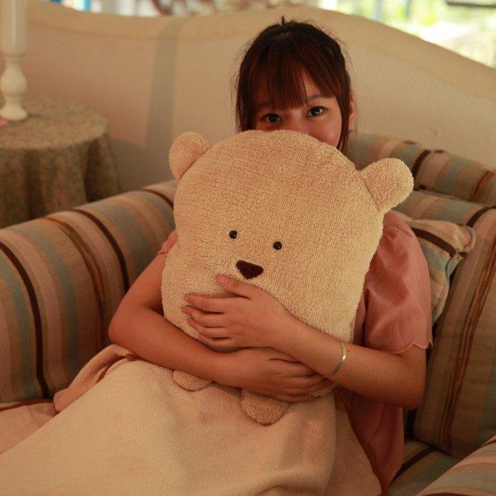 LoVus四合一毯子空調毯卡通抱枕保暖毯暖手枕靠聖誕過年交換禮物(超大 毯子1.8*1米)