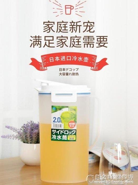 冷水壺 塑料帶蓋耐熱涼開水壺家用大容量冰箱涼水壺 奇思妙想屋