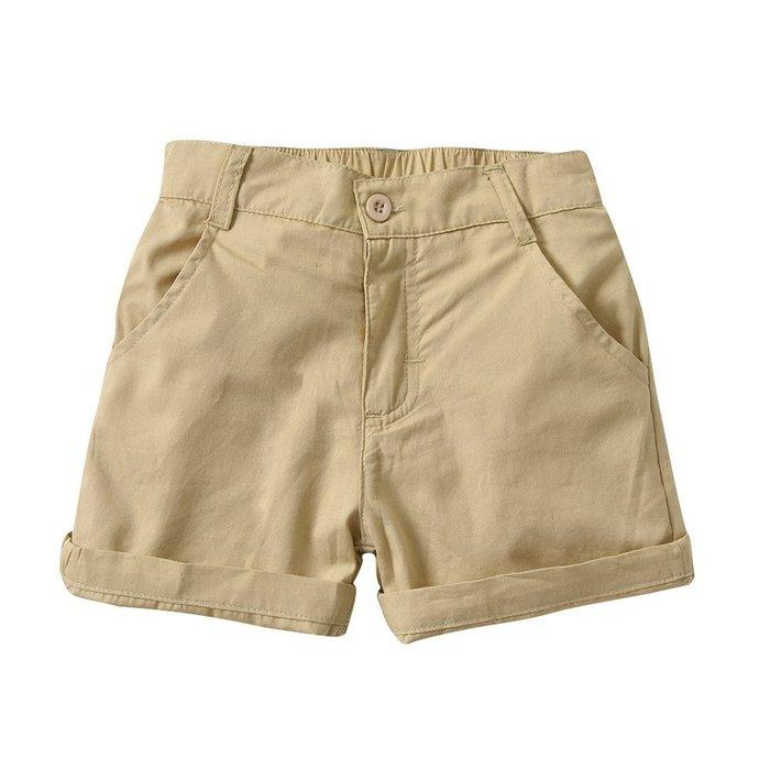 男童 休閑短褲 中小 兒童 梳織純棉短褲