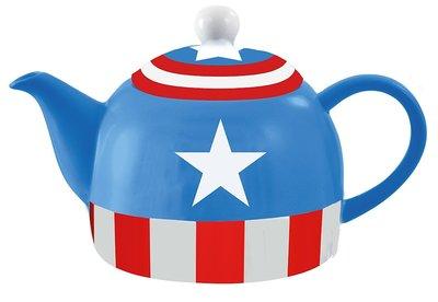 【丹】A_Marvel Captain America Teapot 36 oz 美國隊長 茶壺 馬克杯