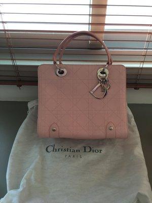 Christian Dior 粉色 黛妃包 手提包 近全新