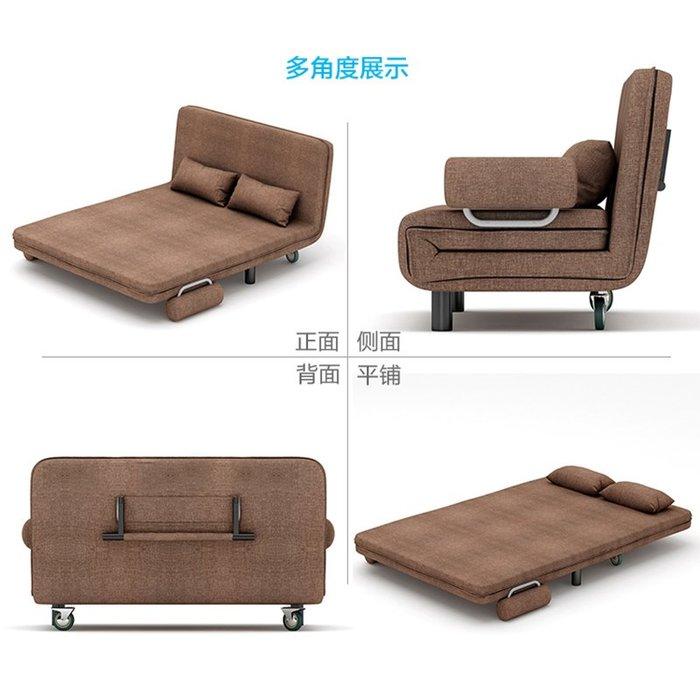 布藝沙發簡約現代客廳沙發床小戶型單人雙人折疊床沙發床【優品城】