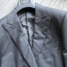 歐碼50【CERRUTI 1881】白標淺灰單排扣西裝