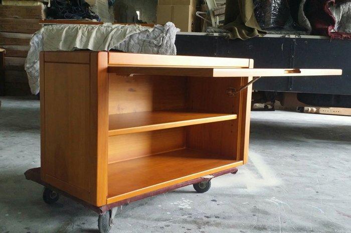 美生活館-- 鄉村傢俱訂製 全紐松 柚木色 側掀式 單門收納櫃 棉被櫃 置物櫃 皮箱櫃 書櫃