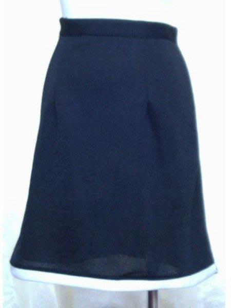 ~麗麗ㄉ大碼舖~M(26-28吋)黑色滾白邊彈性短裙~全賣場3件免運~小碼拍賣