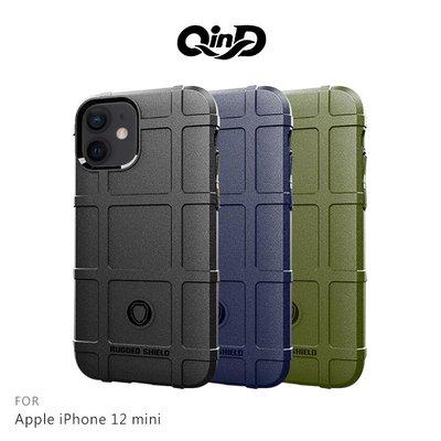 強尼拍賣~QinD Apple iPhone 12 mini (5.4吋) 戰術護盾保護套