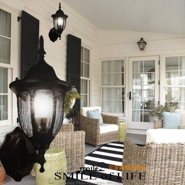 壁燈E27燈頭  戶外壁燈 現代簡約黑色質感  壁燈 SOD2076/2071 適用:門牆.柱體 ☆司麥歐藝術精品照明
