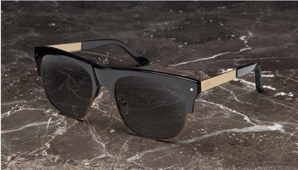 { POISON } 9FIVE J'S BLACK GOLD 黑金 半框式 美國西岸風格太陽眼鏡品牌