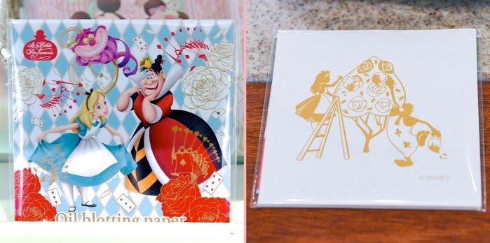 Ariel Wish-日本迪士尼愛麗絲Alice妙妙貓時鐘兔花園下午茶米奇米妮婚禮小精靈園區內限量吸油面紙-日本製-三款
