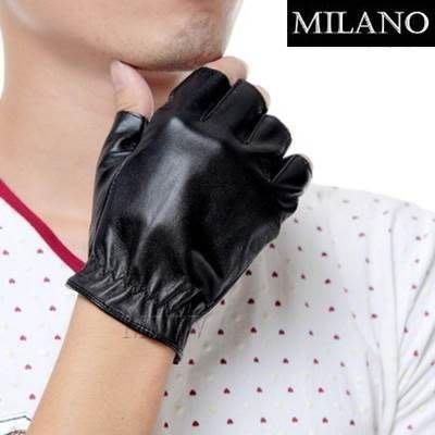 半指手套 真皮手套-羊皮健身駕駛保暖男性時尚配件72g23[獨家進口][巴黎精品]