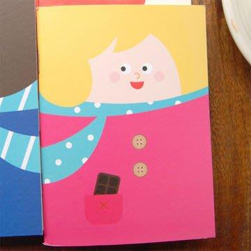 最後特價!迪夢奇Dimanche 簡訊記事本 V.2 (女孩),附趣味貼紙,手冊/日記本/筆記本