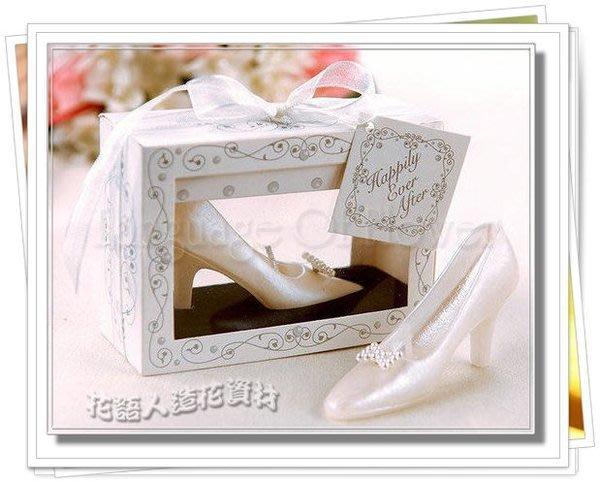 ◎花語人造花資材◎ *新娘高跟鞋蠟燭禮盒*婚禮小物~送客禮~攝影~婚宴布置