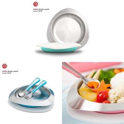 VIIDA-Soufflé-抗菌不鏽鋼餐盤(湖水綠/寶貝藍/甜心粉)A01102