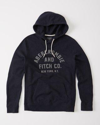 ☆【A&F男生館】Abercrombie&Fitch LOGO貼布長袖連帽T恤【AF012N5】(XS-S-L-XL)